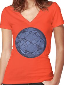 The Geo Sphere Women's Fitted V-Neck T-Shirt
