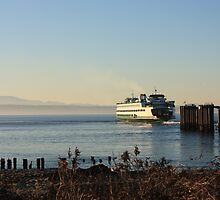 Ferry on departure  by abrahamt