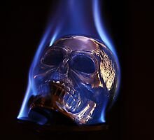 flaming skull 2 by Cale Bowick