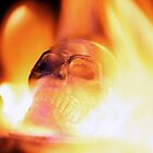 flaming skull 3 by Cale Bowick