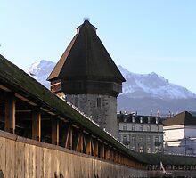 The Kapellbrucke, Lucerne by mochamocha