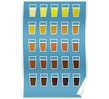 Beers and brews shades of beer Poster