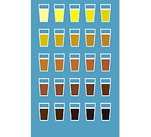 Beers and brews shades of beer Photographic Print