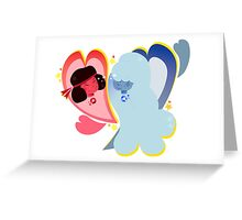 ruby + sapphire Greeting Card
