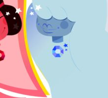 ruby + sapphire Sticker