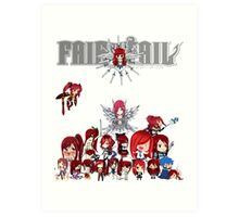 Fairy Tail many faces of Erza anime shirt Art Print