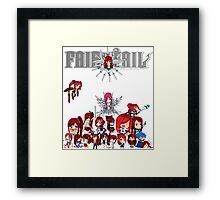 Fairy Tail many faces of Erza Framed Print