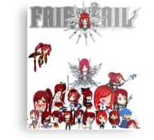 Fairy Tail many faces of Erza anime shirt Metal Print
