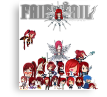 Fairy Tail many faces of Erza Canvas Print