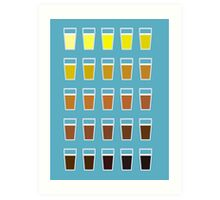 Colors and shades of beer Art Print