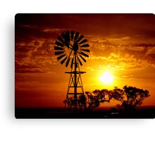 Rural Sunset Canvas Print