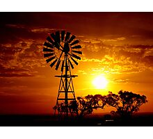 Rural Sunset Photographic Print