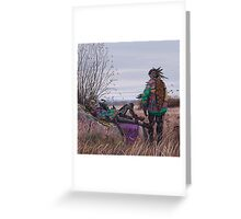 Vagabonds - The Magpie Charmer And Bub Greeting Card
