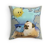 Stay cool, stay chill Throw Pillow