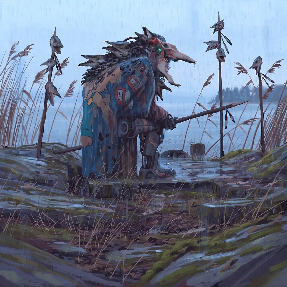 Vagabonds - The Pike Lord by Simon Stålenhag