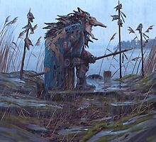 Vagabonds - The Pike Lord by Simon Stålenhag
