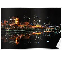 Flinders by night from Southbank Poster