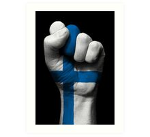 Flag of Finland on a Raised Clenched Fist  Art Print