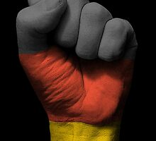 Flag of Germany on a Raised Clenched Fist  by Jeff Bartels