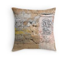 Tainted with Graffiti Throw Pillow