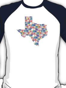 Texas Geometric Colorful Triangles Hipster Texas T-Shirt