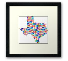 Texas Geometric Colorful Triangles Hipster Texas Framed Print