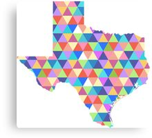 Texas Geometric Colorful Triangles Hipster Texas Canvas Print