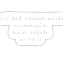 Grilled Cheese and Kale - Swan Queen (white) Sticker