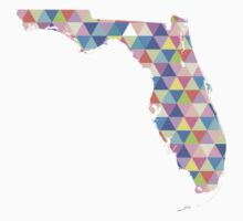 Florida Colorful Geometric Triangles - Hipster Florida Kids Clothes