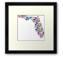 Florida Colorful Geometric Triangles - Hipster Florida Framed Print