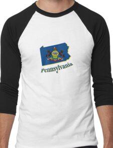 pennsylvania state flag Men's Baseball ¾ T-Shirt