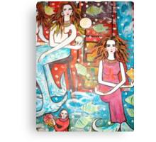 new painting- MermaidsTreasure House( a section) Canvas Print