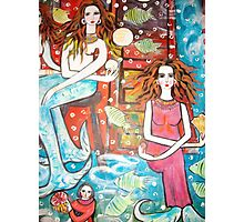 new painting- MermaidsTreasure House( a section) Photographic Print