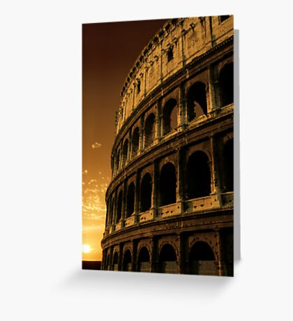 colosseum sunrise Greeting Card