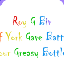 Colours of the Rainbow Sticker