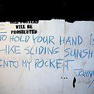 Johnny (street poet) by Robert Knapman