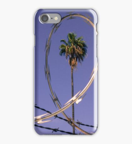 Palm Tree in Barbed Wire iPhone Case/Skin