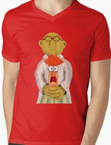 Bunsen and Beaker Mens V-Neck T-Shirt