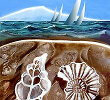 The Geology of Boating - Rangitoto Island by Patricia Howitt