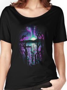 Night With Aurora Women's Relaxed Fit T-Shirt