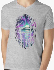 Night With Aurora Mens V-Neck T-Shirt