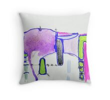 Memory Trace 2 Purple Throw Pillow