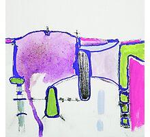Memory Trace 2 Purple Photographic Print