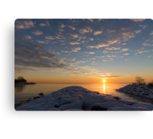 Greeting the Winter Sun on the Lake Canvas Print