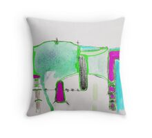 Memory Trace 2 Throw Pillow