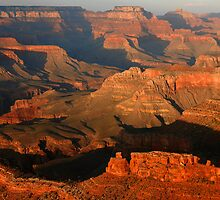 Grand Canyon Sunset Shadows by Stephen Vecchiotti