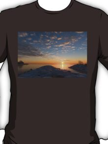 Greeting the Winter Sun on the Lake T-Shirt