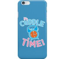 It's CUDDLE time! with cute clock  iPhone Case/Skin