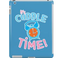 It's CUDDLE time! with cute clock  iPad Case/Skin