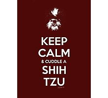 Keep Calm & Cuddle A Shih Tzu Photographic Print